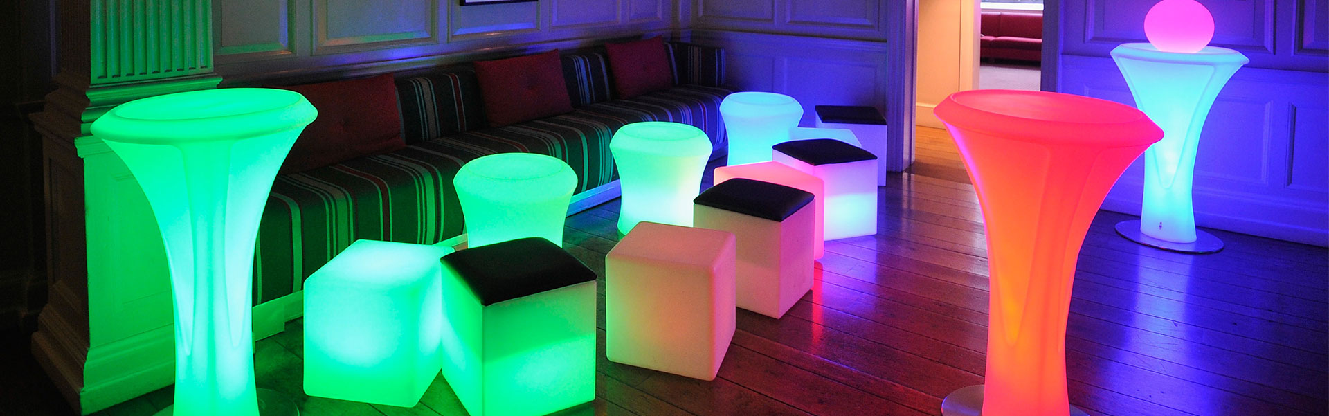 LED Furniture for Hire from Albert Hall Dancefloors