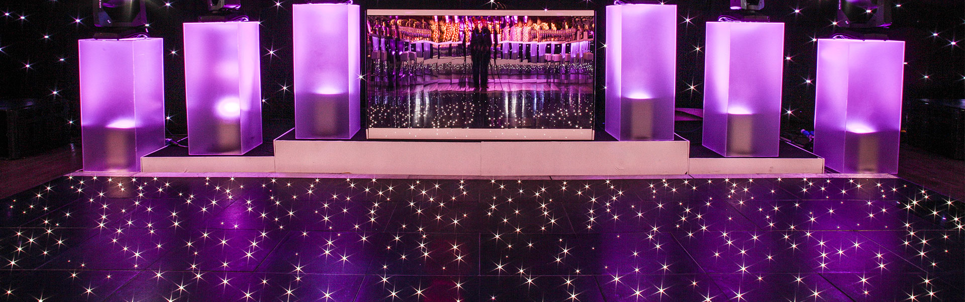 Bespoke Black and White Dance floor