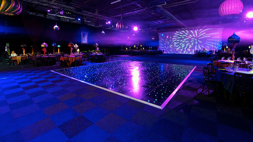 All Black Dance Floor Hire Albert Hall Dance Floors