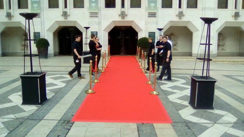 Red Event Carpet for Hire at the Guildhall