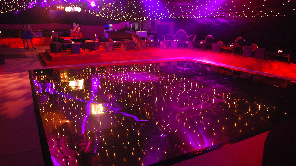 All Black Dance Floor for hire London