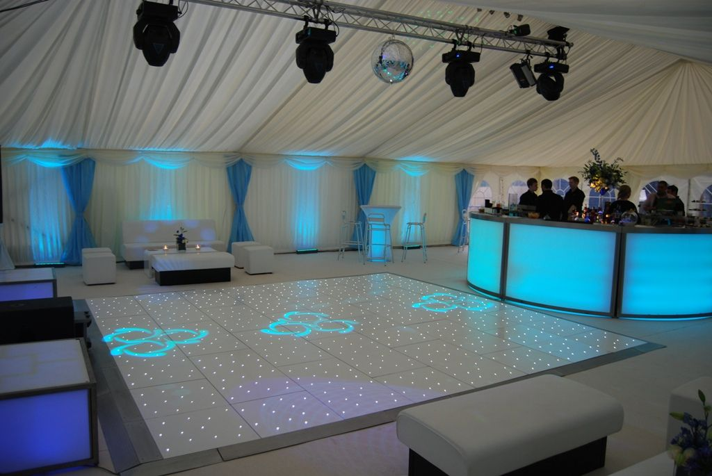 led bar with floor and furniture